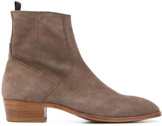 Represent Block-Heel Ankle Boots