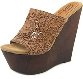 Sbicca Cordoba Women Open Toe Canvas Wedge Sandal.