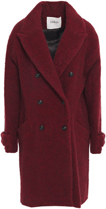 BA&SH Sixty Double-breasted Brushed Boucle-knit Coat