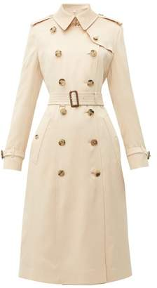 Burberry Bostcastle Double Breasted Silk Trench Coat - Womens - Light Pink