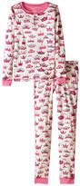 Hatley Pretty Crowns Henley PJ Set (Toddler/Little Kids/Big Kids)