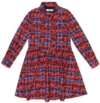 MSGM Kids Printed cotton dress