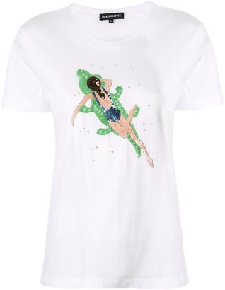 Markus Lupfer sequin embellished T-shirt