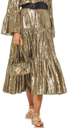 Michael Kors Collection Silk-Blend Skirt