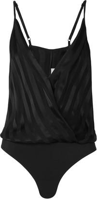 Mason by Michelle Mason Tie-neck Wrap-effect Silk-charmeuse Blouse