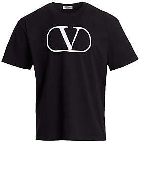 Valentino Men's Logo Crew Neck Tee