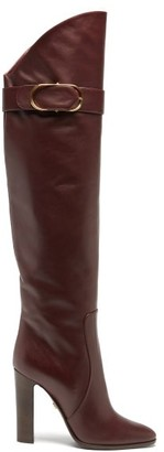 Dolce & Gabbana Over-the-knee Leather Boots - Burgundy