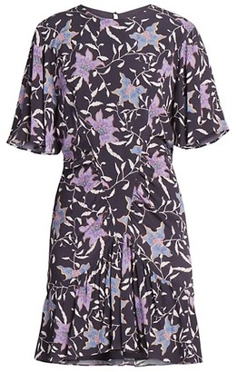 Etoile Isabel Marant Osias Floral Short-Sleeve Dress