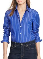 Lauren Ralph Lauren Pinstripe Button Down Tunic