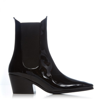 BY FAR Max Patent Leather Ankle Boots