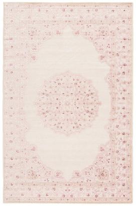 Jaipur Living Malo Medallion Pink/White Area Rug, 2'x3'