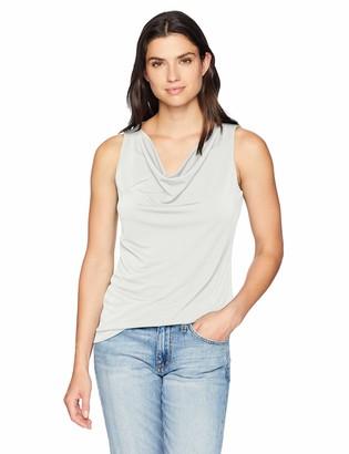 Lark & Ro Amazon Brand Women's Sleeveless Cowlneck Blouse