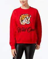 Freeze 24-7 7 7 Juniors' Wild One Embroidered Sweatshirt