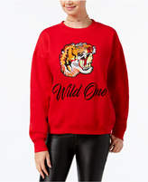 Freeze 24-7 Juniors' Wild One Embroidered Sweatshirt