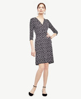 Ann Taylor Petite Petaled Wrap Dress