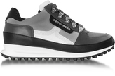 DSQUARED2 Gray Fabric and Leather Sneaker