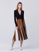Diane von Furstenberg Stevie Two Pleated Wrap Dress