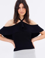 Whistles Frill Halter Neck Knit