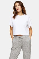 Topshop White Raglan Crop T-Shirt