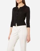 N.Peal Super Fine Cropped Cashmere Cardigan