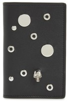 Alexander McQueen Women's Grommet Card Holder - Black