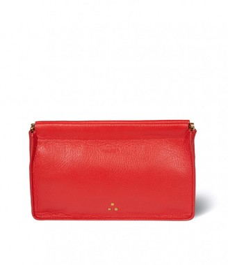 Jerome Dreyfuss Clic Clac Large Clutch in Rouge Goatskin