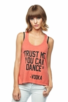 Local Celebrity Trust Me Nikki Tank in Faded Red