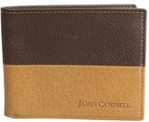 James Campbell Men's Leather Bifold Wallet - Brown