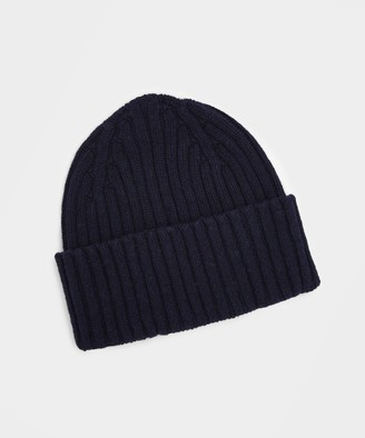 Drakes Classic Lambswool Hat in Navy