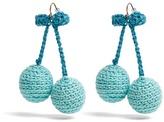 Rosie Assoulin Cherries crochet earrings