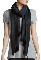 Versace Medusa Animal Print Wool Scarf