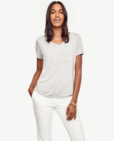 Ann Taylor V-Neck Pocket Tee