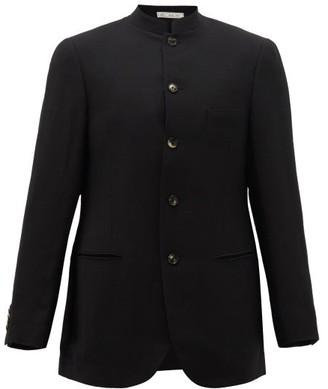 Umit Benan B+ - Stand-collar Crepe Jacket - Black