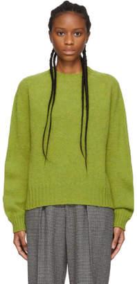 YMC Green Jets Crewneck Sweater