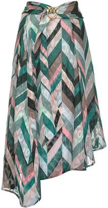 Pinko Burn-Out Striped Skirt