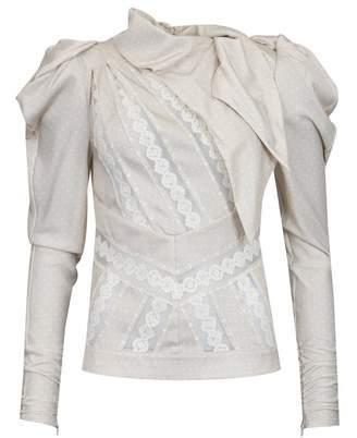 Silvian Heach Kissongo Polka Dot Silk Blouse Colour: Pale Pink, Size: