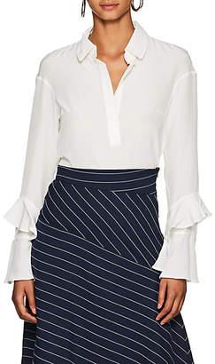 Teija Women's Silk Crepe Blouse - White