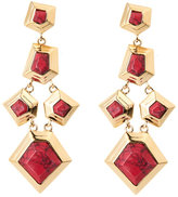 Lele Sadoughi Gold-Plated Faceted Chip Earrings