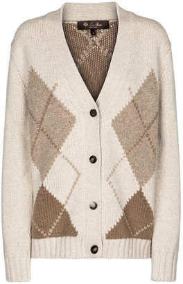 Loro Piana Macdougal argyle cashmere cardigan