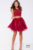 Jovani Spectacular Two-Piece Dress with Gleaming Embellishments JVN41345