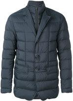Herno quilted zip collar blazer - men - Feather Down/Polyamide/Polyurethane/Virgin Wool - 48