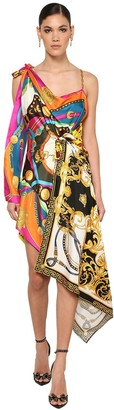 Versace Printed Silk Twill Foulard Dress