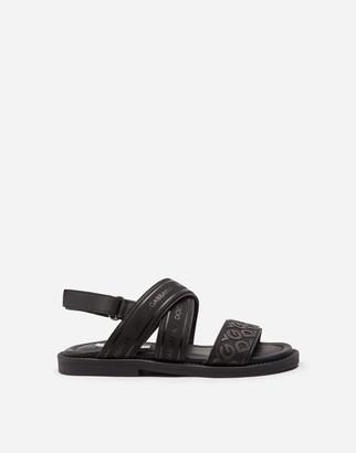 Dolce & Gabbana Calfskin Sandals With Ribbon Logo