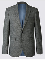M&S Collection Single Breasted Mouline Jacket