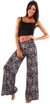 Ingear Women's High Waist Long Pants (Navy-Beige,)
