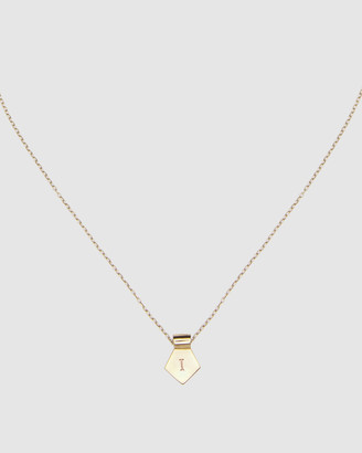 Ca Jewellery Letter I Pendant Necklace Gold