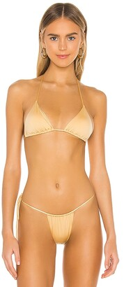Monica Hansen Beachwear Padded Triangle Bikini Top