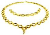 David Webb 18K Yellow Gold Necklace & Bracelet Set