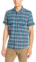 Buffalo David Bitton Men's Sihab Short Sleeve Plaid Fashion Woven