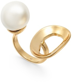 Alfani Gold-Tone Imitation Freshwater Pearl Open Ring, Created for Macy's